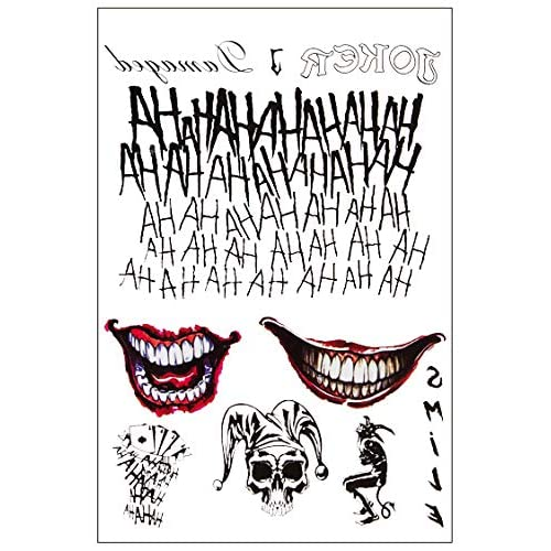 6 Large Sheets Joker Tattoos Suicide Squad Harley Quinn Included 100 Pcs For Halloween Costume Accessories And Parties Buy Products Online With Ubuy Kuwait In Affordable Prices B07wft7pwg