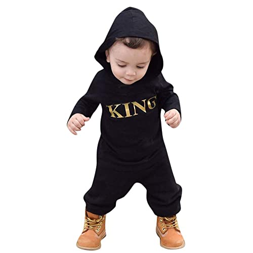 general3 Toddler Baby Boys Girls Jumpsuit Infant Letter Striped Printed Short Sleeve Romper Bodysuit Clothes