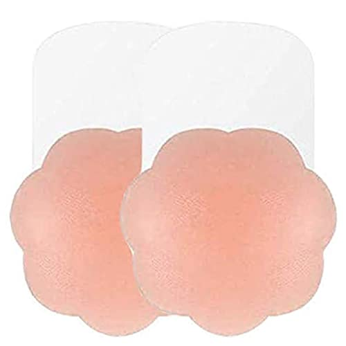 Breast Lift Pasties 4in//5in Invisible Silicone Breast Lifting Petals Adhesive Bra Reusable Nipple Covers Strapless Bra