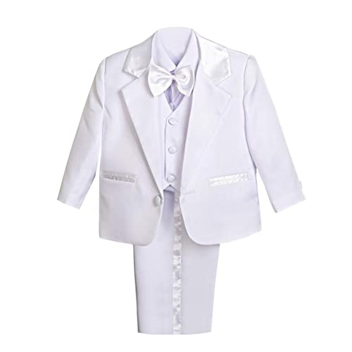 Dressy Daisy Baby Boys Formal Dress Suit Tuxedo no Tail 5pc Set Wedding Outfits 038