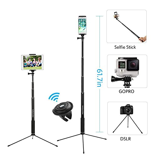 59 Selfie Stick Tripod Moreslan Bluetooth Selfie Stick With Tripod Stand And Remote Phone Tripod Extendable Monopod Compatible For Iphone X 8 Buy Products Online With Ubuy Kuwait In Affordable Prices B07dj214k2