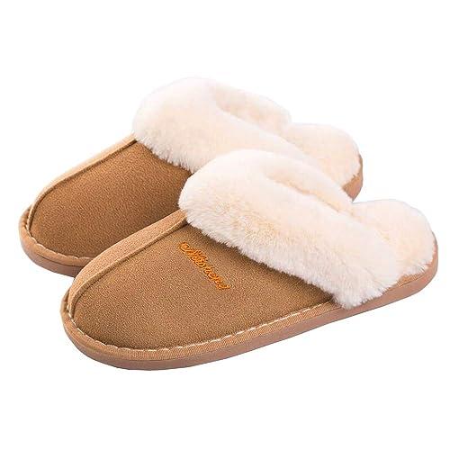 8707195dc2eca Buy SOSUSHOE Women Slippers Fluffy Fur Slip On House Slippers Soft ...