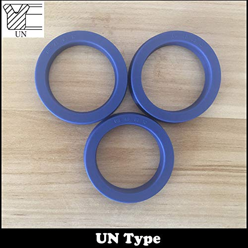 Gimax UN 45555.7//6//6.5//7//8//10 45x55x5.7//6//6.5//7//8//10 Hydraulic Rotary Shaft Piston Rod Grooved U Lip O Ring Gasket Wiper Oil Seal Size: 3Pieces 45x55x10