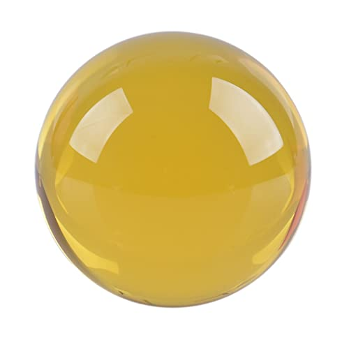 K9 Crystal Ball with Free Stand Suncatcher Amber LONGWIN 50mm 2 inch