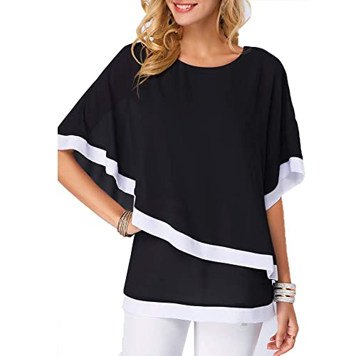 Womens Ladies Bow Bee Baggy Oversized Lagenlook Batwing T Shirt High Low Tee Top