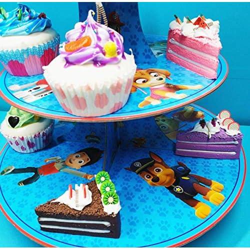 Paw Patrol 3 Tier Paw Patrol Cupcake Stand Cake Dessert Display Tower Cartoon Theme Party Supplies