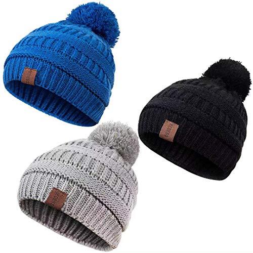 Sheery Colorful Earphone Casual Knit Cap for Men Women 100/% Acrylic Acid Skull Cap Woolen Hat