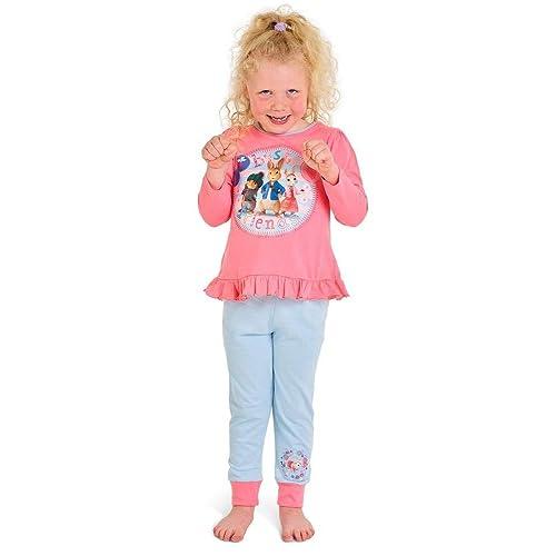 Peter Rabbit Kids Pyjamas Lily Bobtail Boys Girls Full Length Pjs Set Gift Nightwear