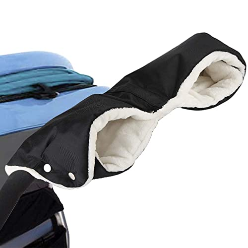 Pram Mittens Stroller Hand Muff Carriage Hand Cover Stroller Accessories Baby Pushchair Gloves Anti-Freeze Fashion Windproof Waterproof Thicken Stroller Fleece Hand Warmer Gloves Buggy