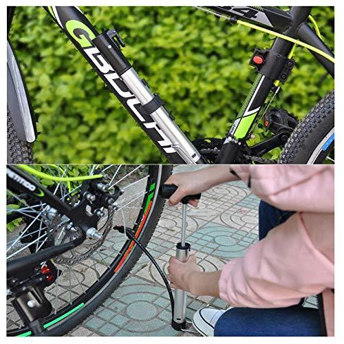 ZUKKA Foot Pump,Portable Air Bike Floor Pump,Double Cylinder 160PSI Accur.. New