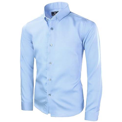 3b0f54f580bc6f Buy Black n Bianco Boys' Signature Sateen Long Sleeve Dress Shirt with Ubuy  Kuwait. B075H3Z28V
