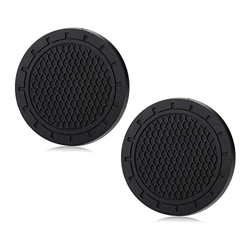 2.75 Inch Diameter Anti Slip Cup Holder Pad Coaster Can Insert Mats 2PCS for All Jeep Round Cup Holder Models Interior Accessories red