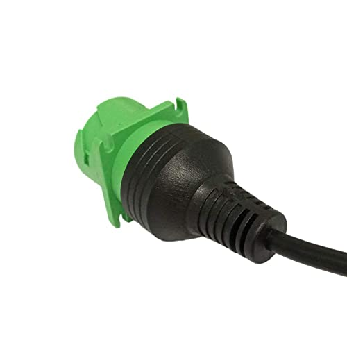 Green-TYPE2 Dalagoo Full Molded J1939 Splitter Cable 9pin Type2 Deutsch Green Connector Molded SAE J1939 Y Cable Female to Double Male Braided Shielded Y Cable for Truck Diagnostics