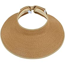 on sale 09598 3b173 Simplicity Women rsquo s Summer Foldable Straw Sun Visor w Cute Bowtie