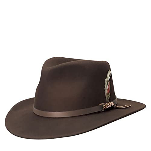 8259d2a41 Buy Scala Classico Men's Crushable Felt Outback Hat with Ubuy Kuwait ...