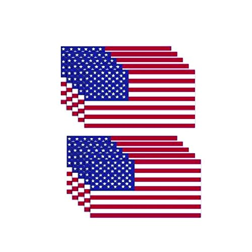 Decals By Haley 10 Pack American Flag Stickers Made Of 3m Vinyl