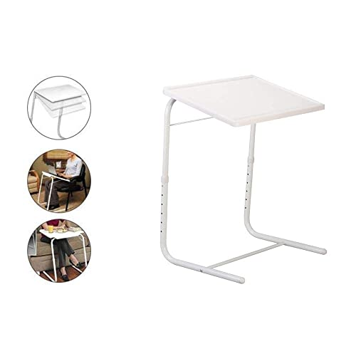 tablemate folding tv tray adjustable tv tray table tv dinner tray for bed sofa comfortable folding table with 6 heights four tilt angle