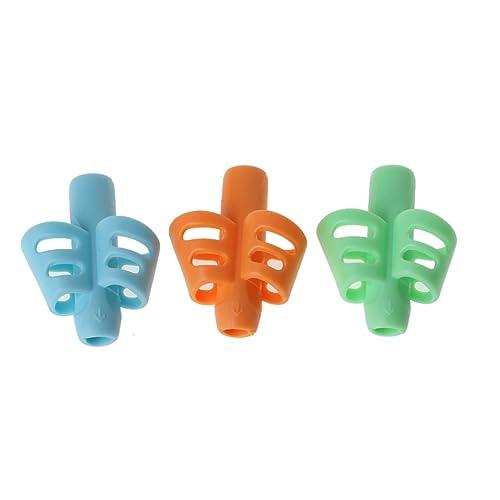 SING F LTD 6pcs Children Kid Silicone Mini Pencil Grip Pen Gripper Ultra Soft Handwriting Aid Tool Kit