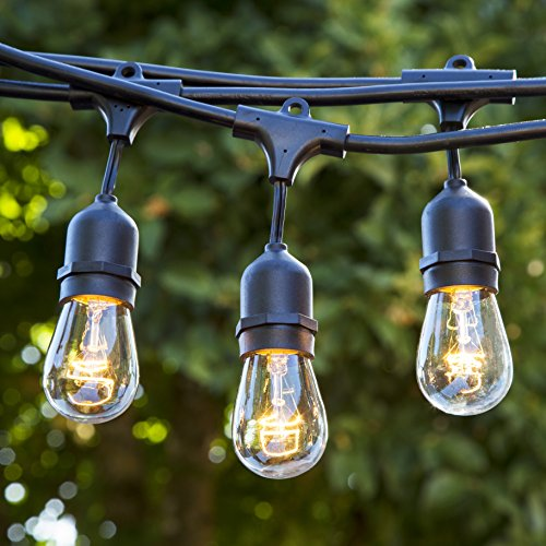 Hanging Sockets Perfect Patio Lights, Proxy Lighting 48 Foot Weatherproof Outdoor String Lights