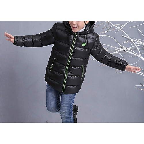 Phorecys Big Boys Winter Thicken Cotton Coat Hooded Waterproof Jacket Age of 5-13