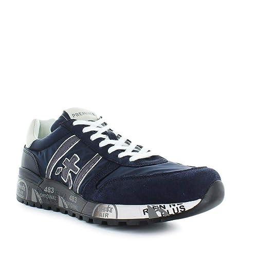 PREMIATA Luxury Fashion Mens LANDER3247 Blue Sneakers Season Permanent