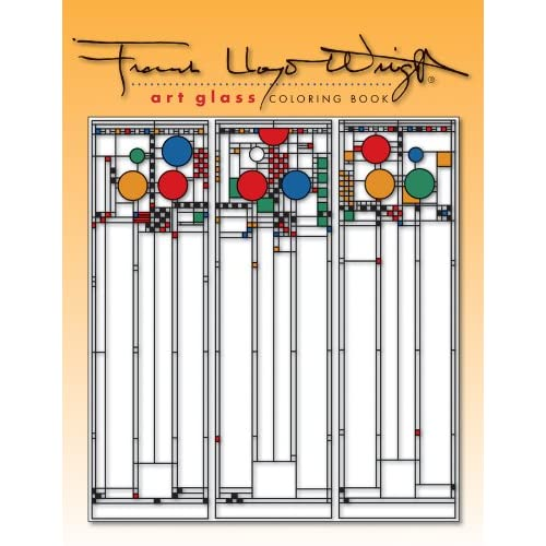 Frank Lloyd Wright Stained Glass Windows, Coloring Books Pages ... | 400x400