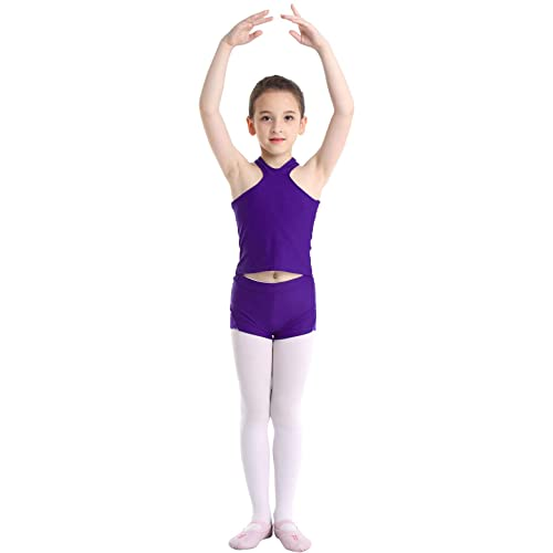 moily Big Girls Two Piece Athletic Outfit Sweetheart Racer Back Top with Leggings for Gymnastics//Dance//Sports