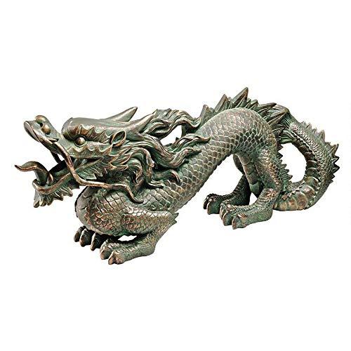 Full Colour Polyresin 20.5 cm Design Toscano Dragon Blade Gothic Statue