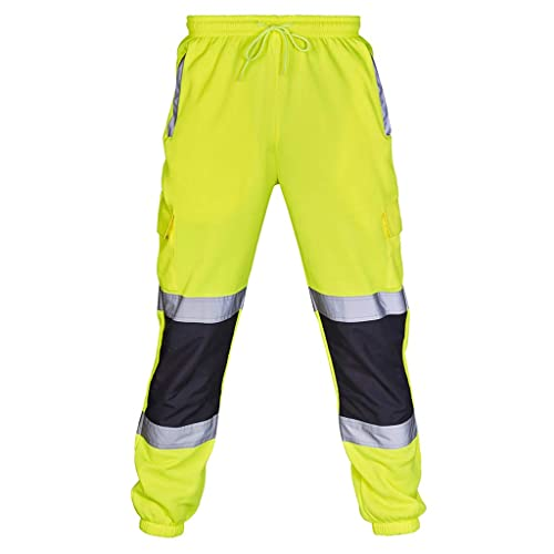 Stylo Online Hi Vis Viz 2 Two Tone Hoody Sweatshirt High Visibility Workwear Jumper Reflective Tape Band Work Fleece Safety Sweat Shirt Warm Security Jacket Zip Hoodie Work Wear Top Size S-4XL