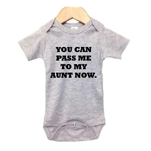 d2fd688d385 Buy Auntie Baby Onesie/You Can Pass Me to My Aunt Now/Unisex Newborn Outfit  with Ubuy Kuwait. B07MRBYSQ4