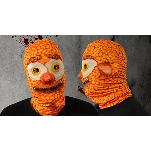 Baked Bean Breakfast Face 3D Effect Face Skin Lycra Fabric Face Mask Fancy Dress