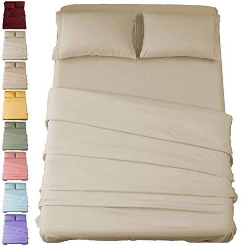 Egyptian Luxury Comfort 1800 Count Soft 4 Piece Deep Pocket Bed Sheet Set Red