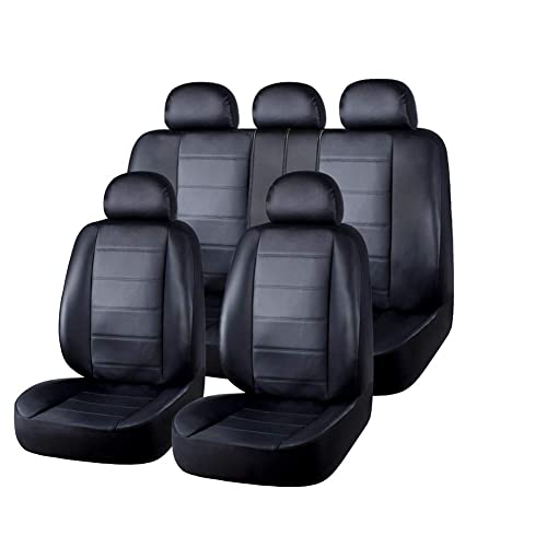 Set of 2 Front Bucket Seat Protect MAXTUF Car Seat Covers W// Separated Headrest