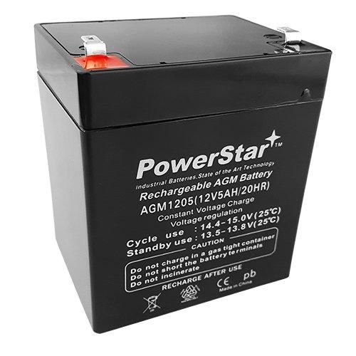 1250 12V 5AH Battery Genuine TSA Power Security 4.5 ah Garage Door Healthcare 5 AMP Hours 12V 5 amp Hour TS1250 AGM Batteries