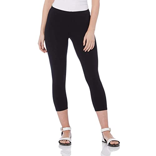 New Ladies Plain Gym Yoga Workout Slim Fit 3//4 Length Capri Pants Crop Leggings