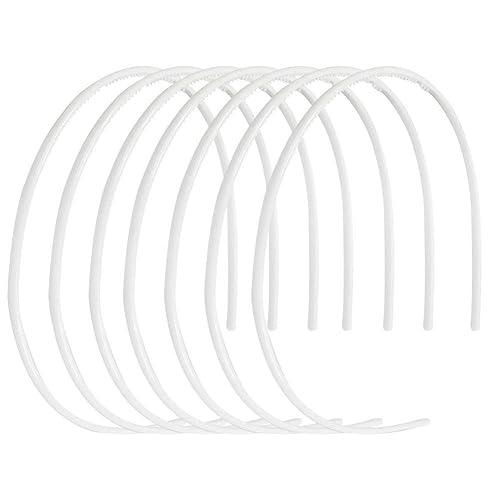 CODIRATO 12 PCS Plastic Headband No Teeth Hair Bands DIY Hair Accessories for Women Girls Men Black