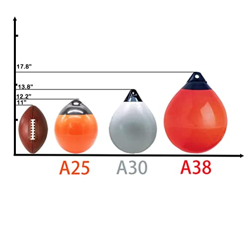 """Orange Boat Fender Ball Anchor Inflatable Vinyl Shield Protection Buoy Round 12/"""""""