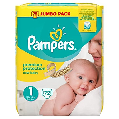 Size 1 2-5 kg Pampers New Baby 96 Nappies