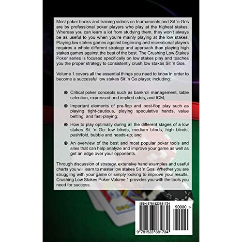 The Essential Guide to Dominating Low Stakes Sit n Gos Volume 3 Crushing Low Stakes Poker Hyper Turbos