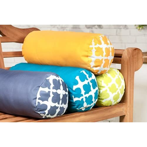 """Arabesque Lime 18/"""" 45cm Outdoor Water Resistant Scatter Cushion Garden"""