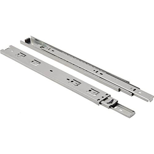 10 Pairs 10 Pack Berta Full Extension Push to Open Ball Bearing Side Mount Drawer Slides 12-Inch 100Lb Load Rating