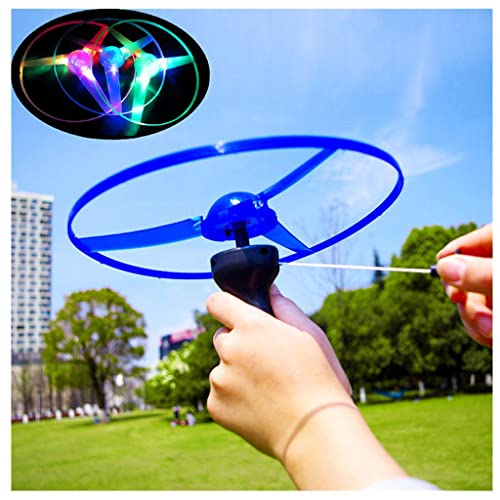 Colorful Plastic Spin Led Light Flying Saucer  Kids Outdoor Toys KW
