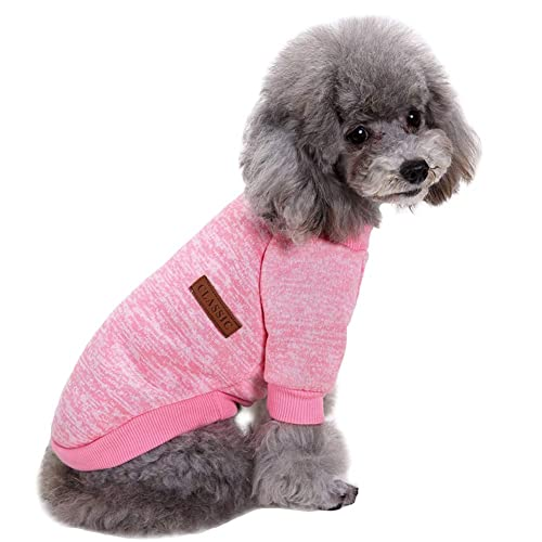 CHBORCHICEN Pet Dog Sweaters Classic Knitwear Turtleneck Winter Warm Puppy Clothing Cute Strawberry and Heart Doggie Sweater