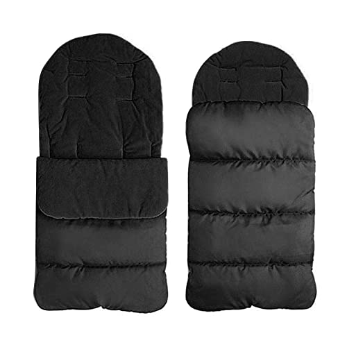 Universal FOOTMUFF Baby Cosy Toes Fit All Pushchair Buggy Car Seat Plain Colour/_Black