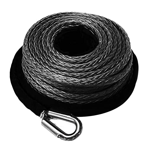 ZEAK 2//5/'/'/×80/' Gray Synthetic Winch Line Rope 18500lb Capacity with Protective Sleeve for 4WD Off Road for ATV UTV Jeep SUV
