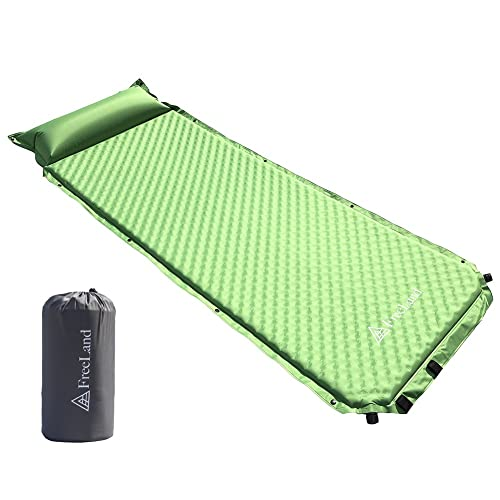 Perfect for Hiking /& Backpacking Moisture-Proof Camping Pad WILD FUN 2 Person Double Self-Inflating Sleeping Pad with Pillow,Lightweight,75 x 52 Sleep Mat