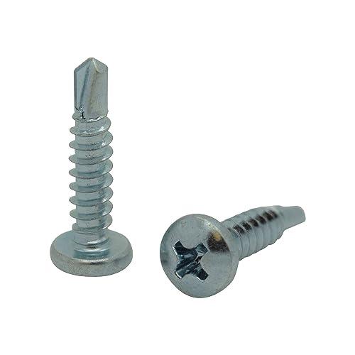 SNG72 Snug Fastener 100 Qty #8 x 1//2 Zinc Wafer Modified Truss Head TEK Self Drilling Sheet Metal Screws