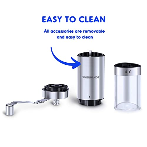 XIBLISS Glass Coffee Grinder Replacement Jar Includes Lid and Silicone Base,Coffee container capacity:12 oz(350 ml) Black