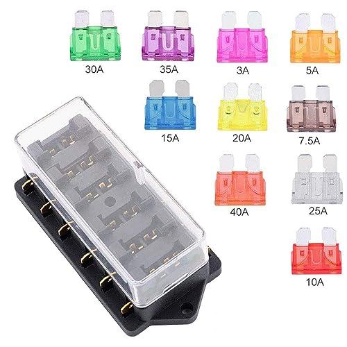 rv fuse box covers favengo tractor fuse box 6 way blade fuse holder 1 40 amp  fuse box 6 way blade fuse holder