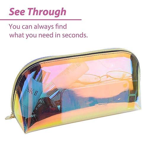 da73cec26600 Buy Women Girls Clear Transparent Rainbow Laser Hologram Cosmetic ...